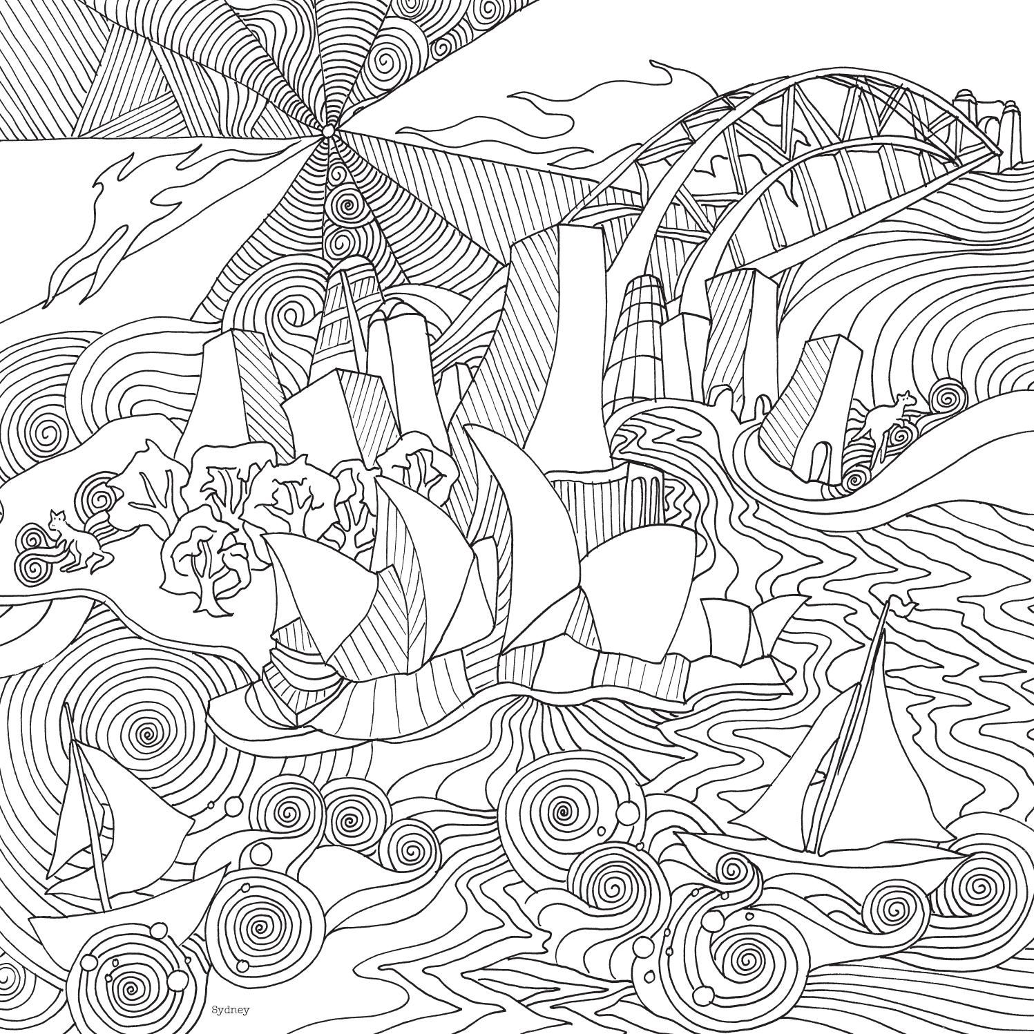 sydney the magical city is a brand new colouring book by award