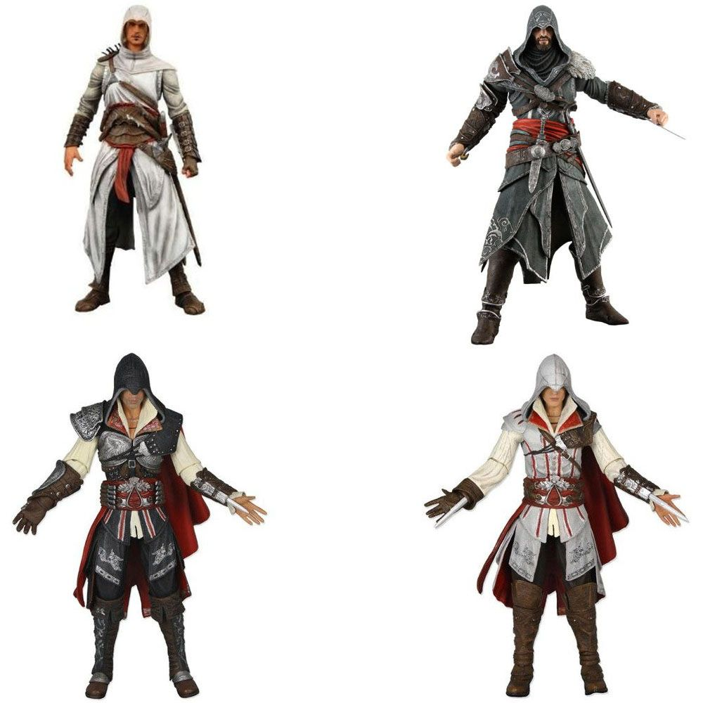 Neca 7 Assassins Creed Altair Ezio Action Figure Pvc Assassins Creed Action Figures Assassin