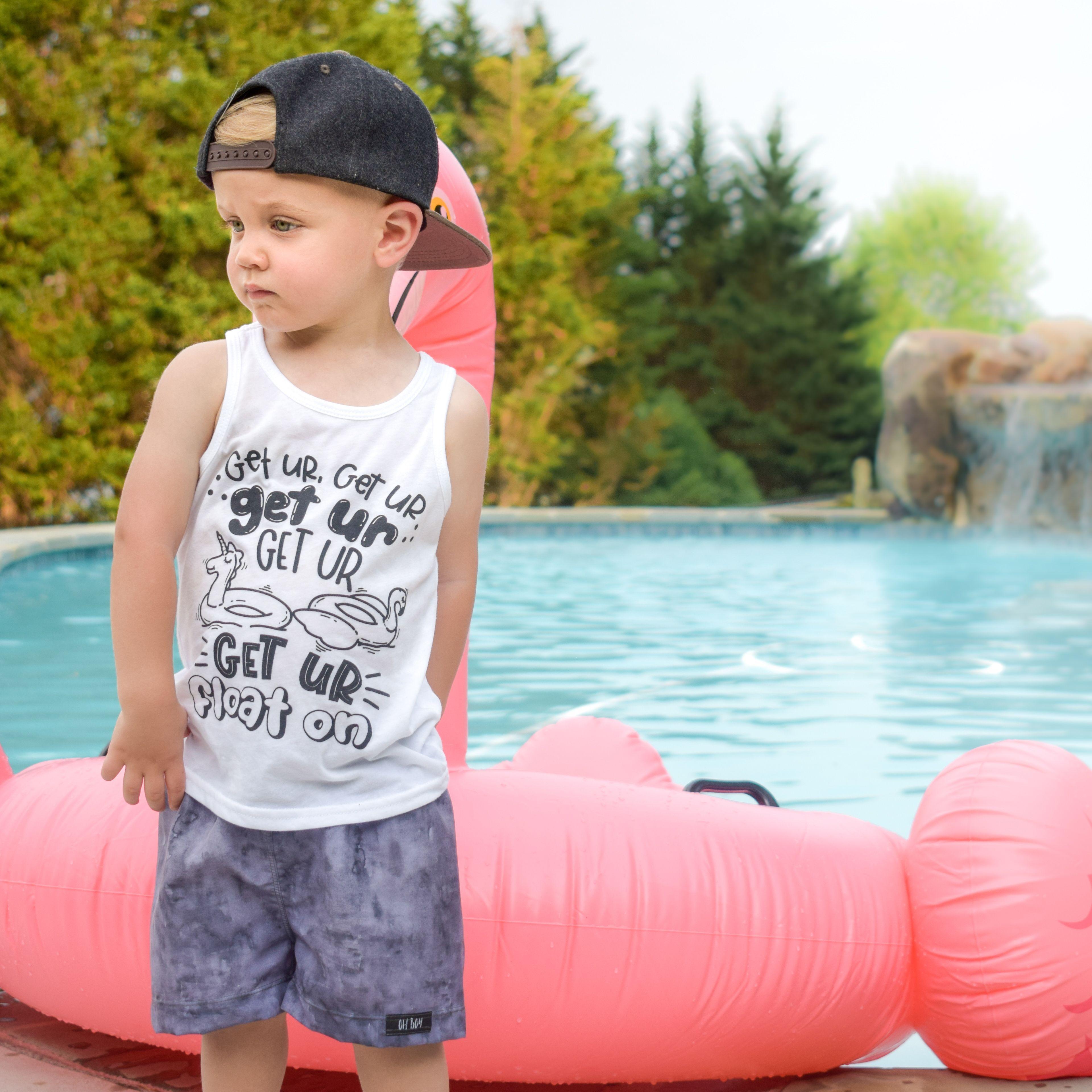 96276442f Summer shirt - flamingo float shirt - pool shirt - trendy kids clothes - boy  clothes - baby girl shirt