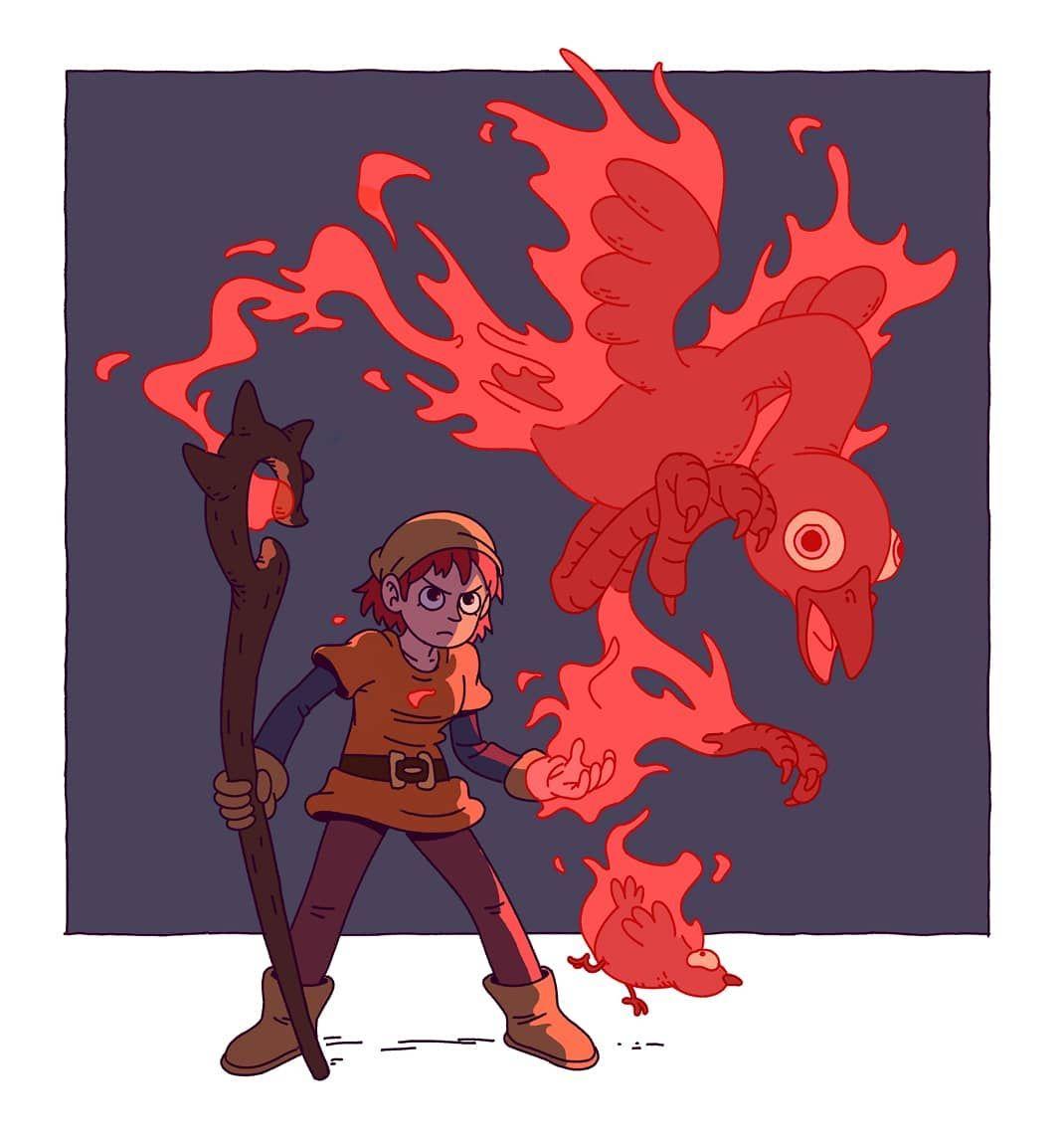 "Varguy on Instagram: ""Phoenix mage #characterdrawing #characterdesign #fantasyart"""