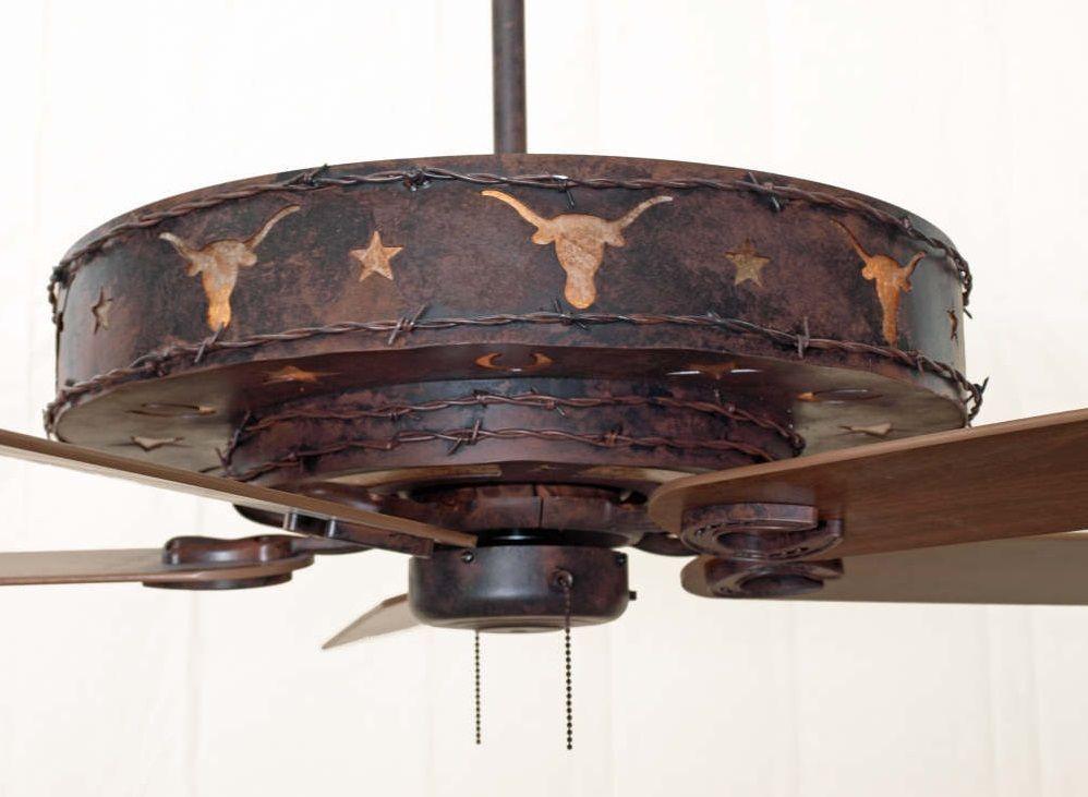 Copper Canyon Longhorn Ceiling Fan Rustic Lighting And Fans Rustic Ceiling Fan Rustic Lighting Ceiling Fan With Light