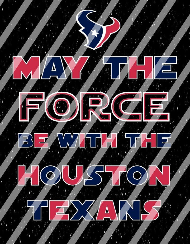 Houston Texans Star Wars Force Wall Decor Sign Instant Print Framed