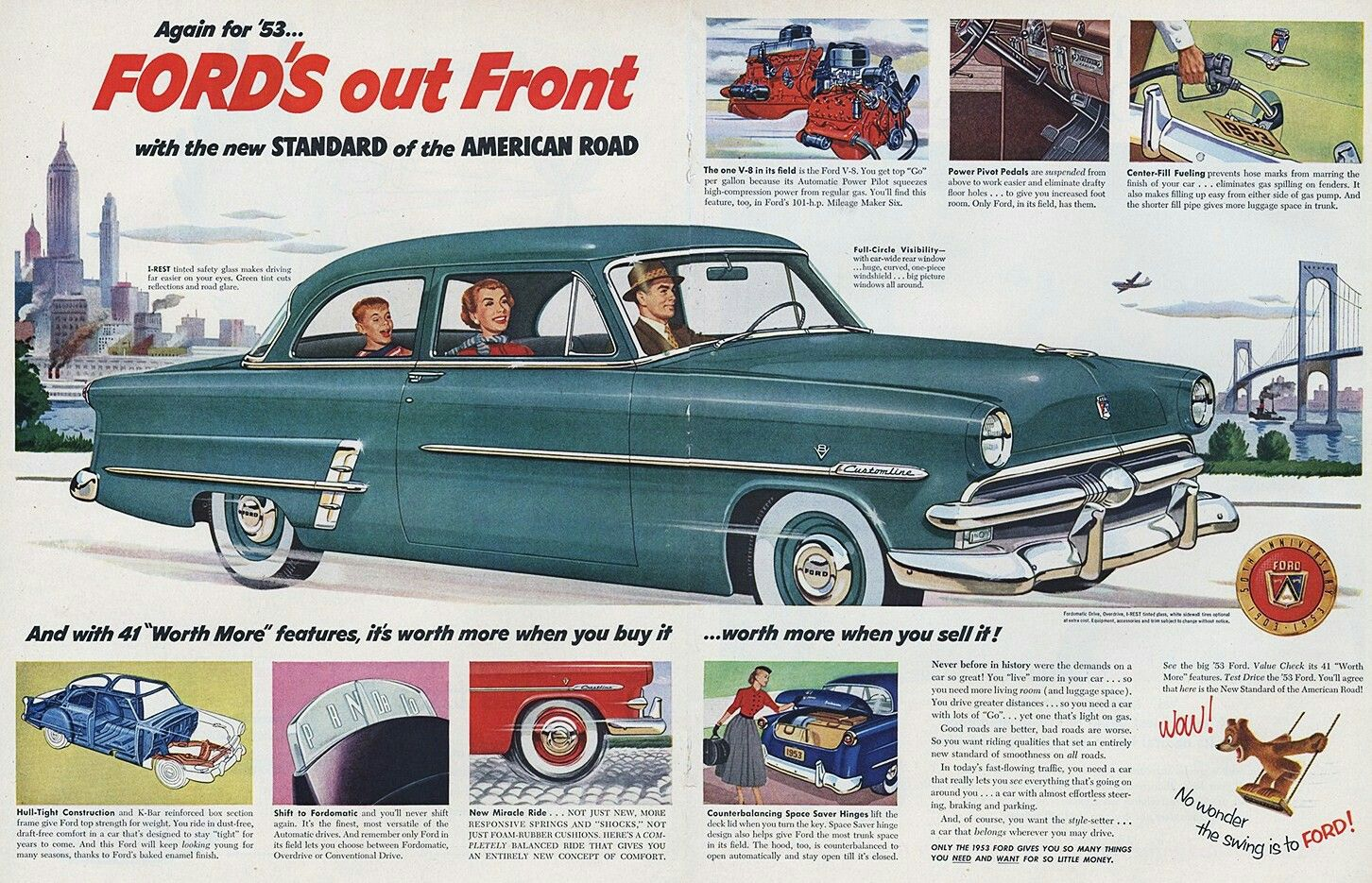 Ford 1953 | Vintage Car Ads - Ford | Pinterest | Ford and Cars