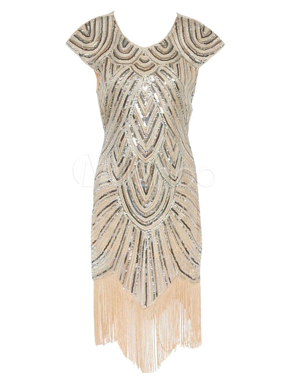 1920er Jahre Flapper Kleid große Gatsby Kleid Damen
