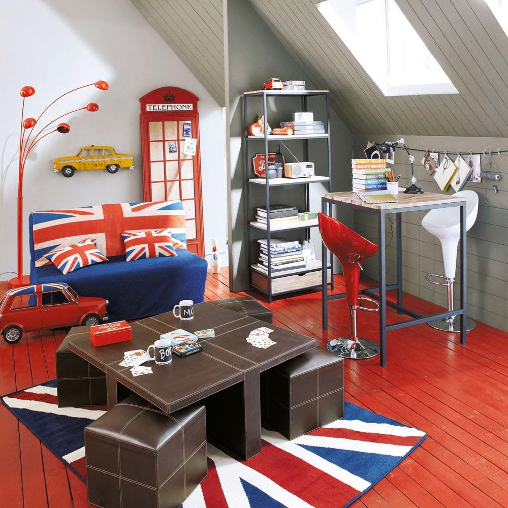 Jungen Union Jack Schlafzimmer Schwarz Und Weiß Union Jack