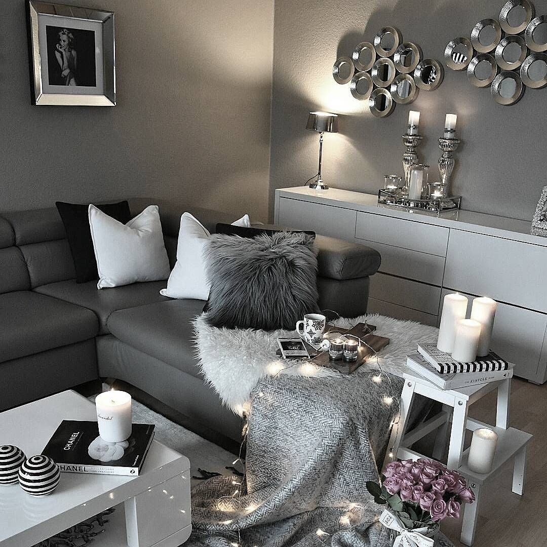 White Lounge Decor Ideas: Living Room Grey, Grey Home Decor, Home