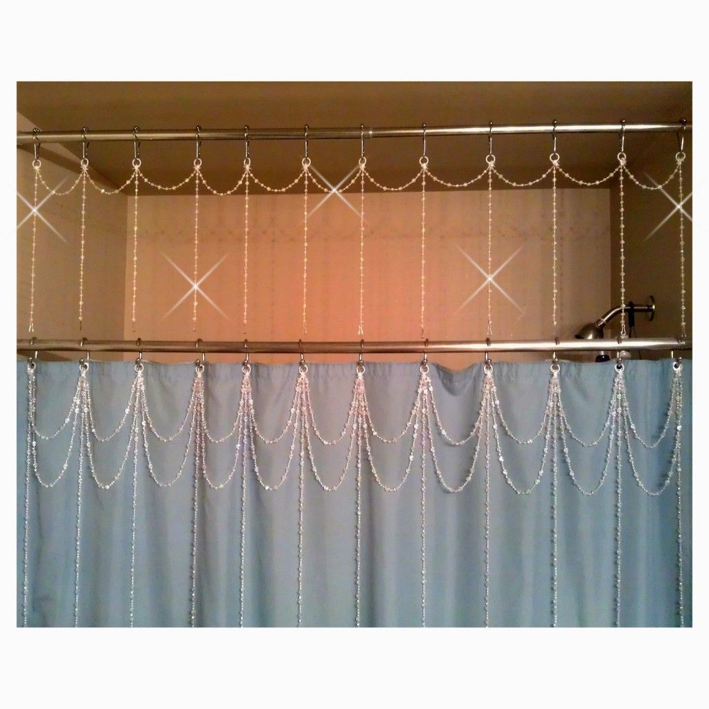 The bling of shower curtain | Shower Curtains | Pinterest | Bathtubs
