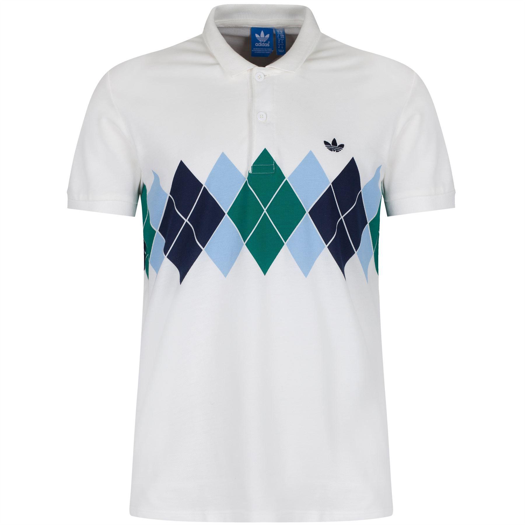 Polo Ivan White B Argyle Shirt Xs Lendl Navy Men's Adidas Originals 0Owvm8Nn