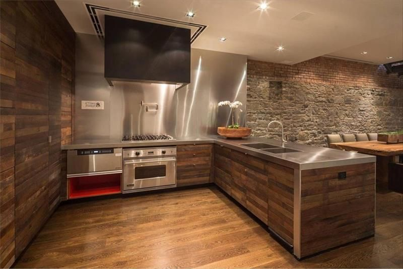 Pallet Kitchen Wall Paneling And Flooring