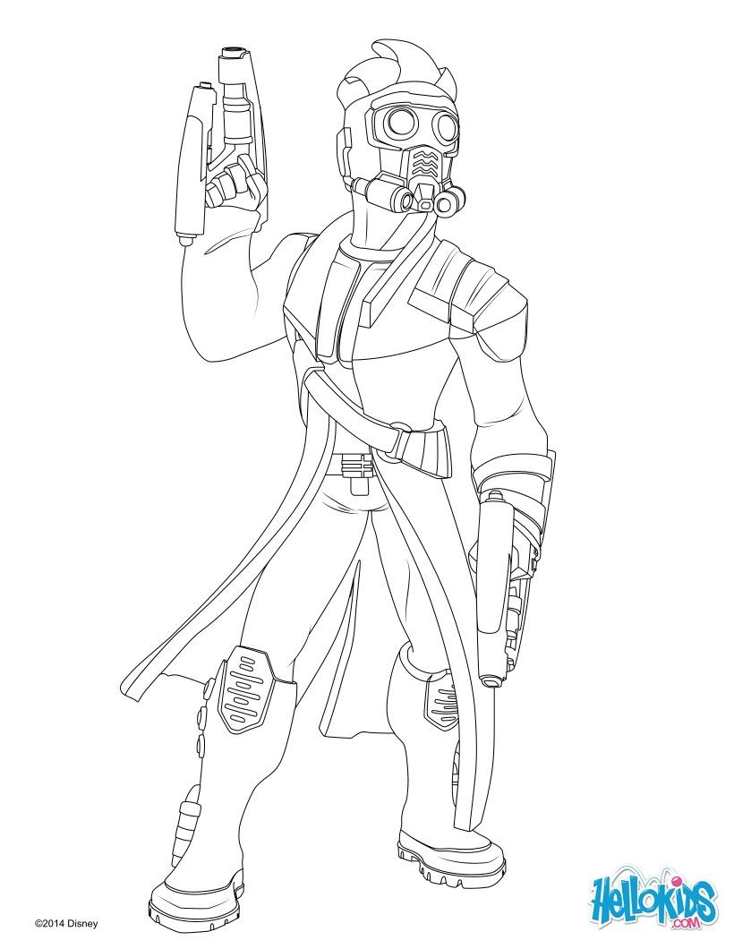 Star-Lord coloring page | Guardians of the galaxy | Pinterest