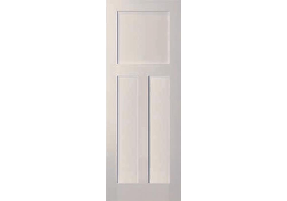 Warren 3 Panel White Primed Shaker Door 1 3 8 White Paneling Shaker Doors Solid Core Interior Doors