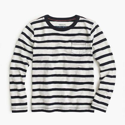 fb12f05d58 This supersoft, classic striped T-shirt is always a solid move.  <ul><li>Cotton.</li><li>Long sleeves.</li><li>Chest pocket.</li><li>Machine  wash.