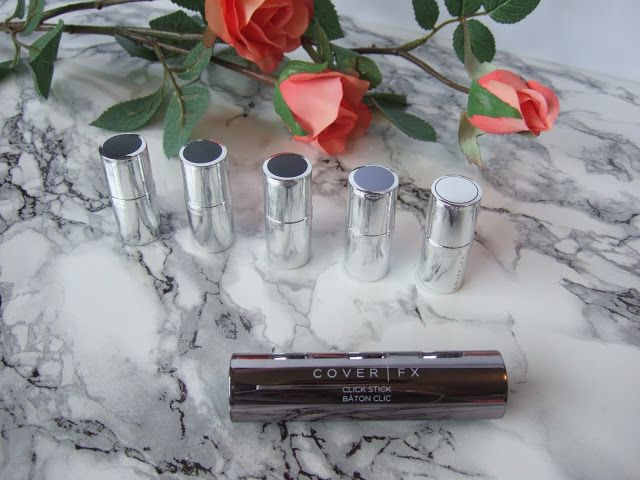 Cover FX Click Stick, Cover Click, Correct Click, Enhance Click - Review, Swatches, Before & After