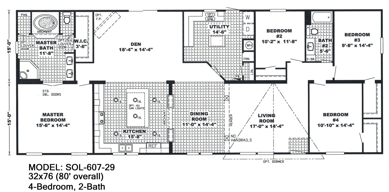 Double Wide Floor Plans 5 Bedroom Mobile Home Floor Plans