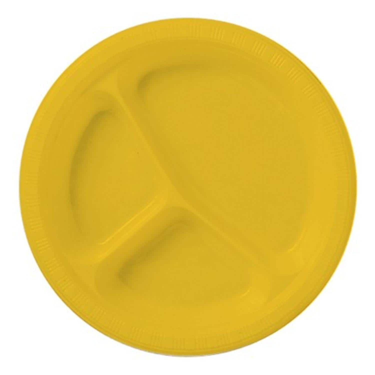 Club Pack of 200 School Bus Yellow Disposable Divided Plastic Party Banquet Dinner Plates 10  sc 1 st  Pinterest & Club Pack of 200 School Bus Yellow Disposable Divided Plastic Party ...