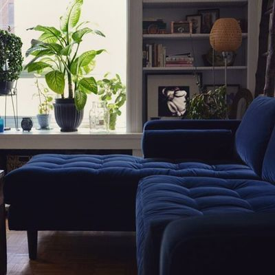 Toronto Ontario Canada Article Sectional Sofa Sven Cascadiablue Tufted Midcentury Velvet Chaise Bluerthanblue With Images Sectional Sofa Modern Sofa Sectional