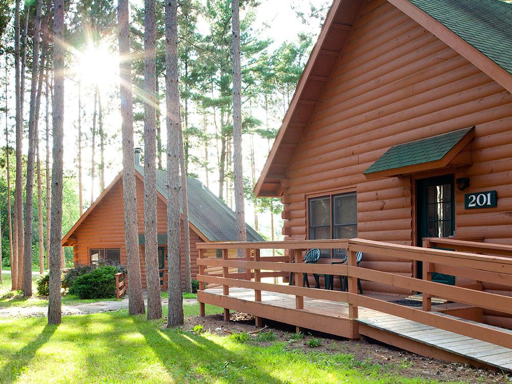 Christmas mountain village campground at wisconsin dells