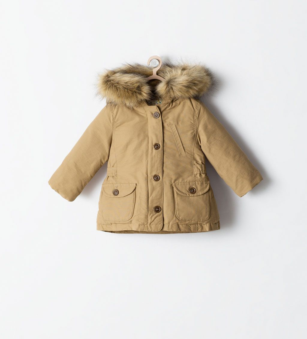 Image 1 Of Buttoned Parka With Detachable Fur From Zara Want For Hayaa Susse Kinderkleidung Mantel Babymode Fur Jungs