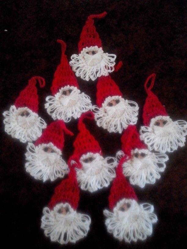 Motivos navideños Técnica crochet Mis creaciones Pinterest