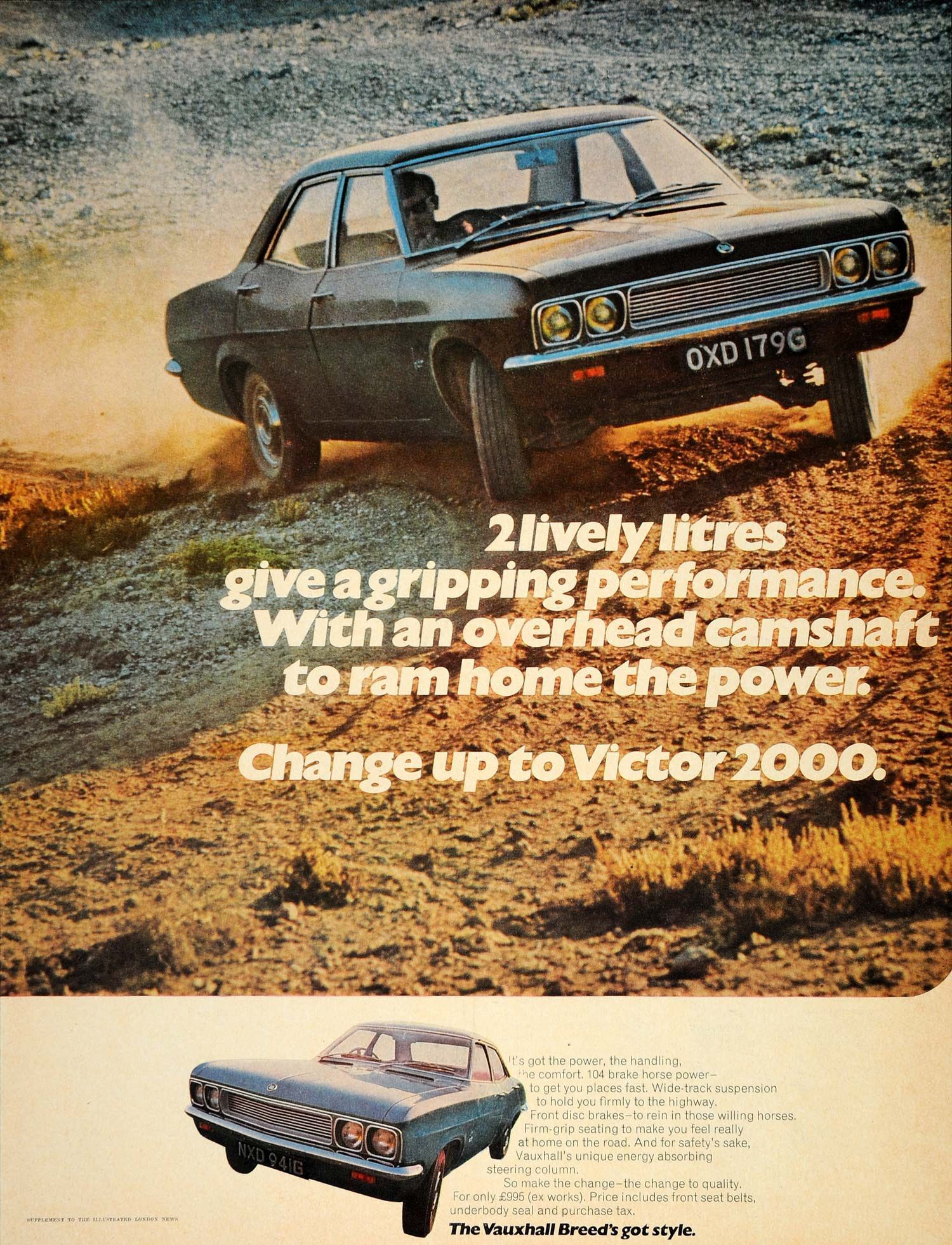 1969 Ad Vauxhall Victor 2000 British Car Automobile GM - ORIGINAL LN1