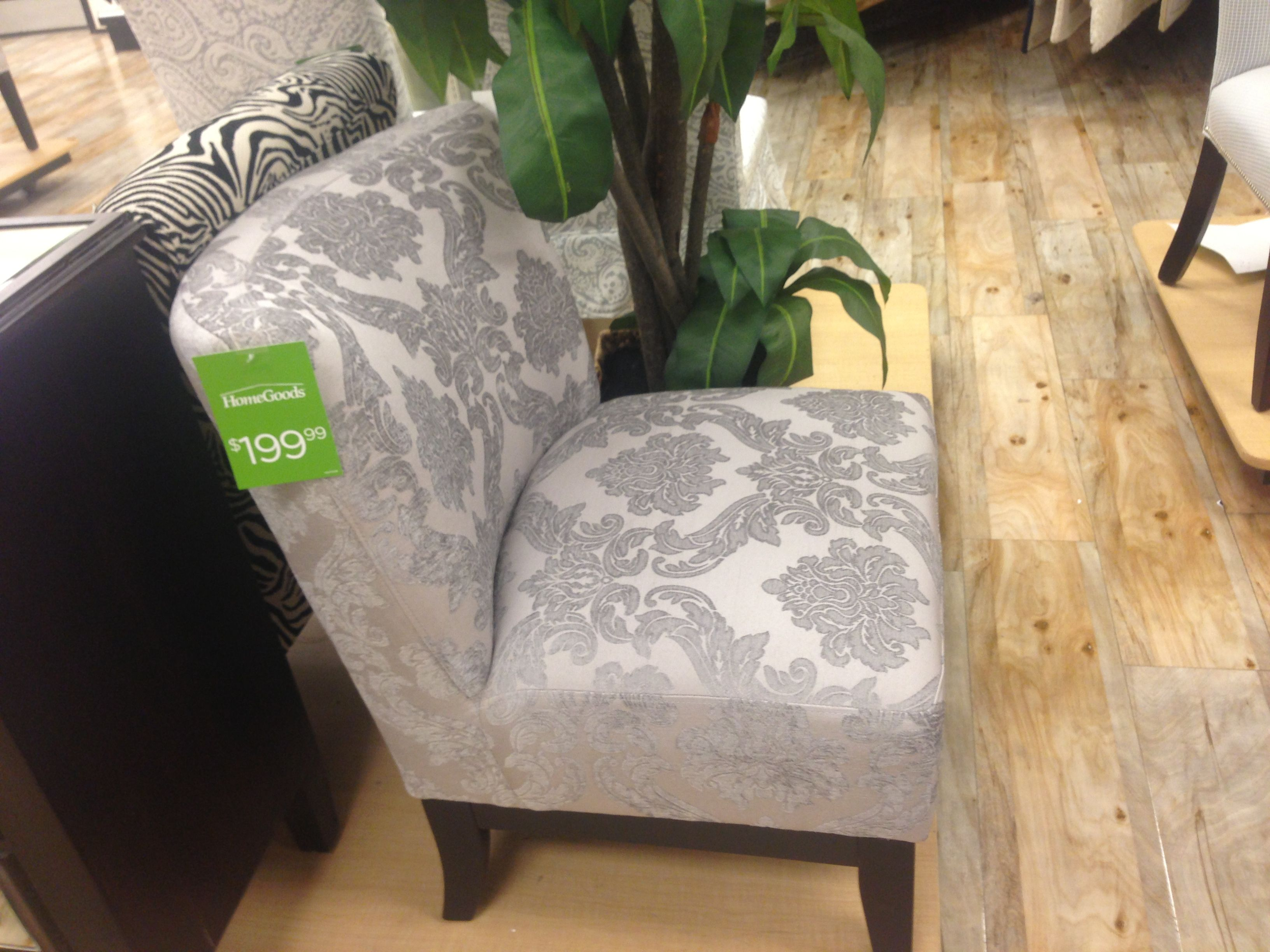 Light Grey Damask Accent chair