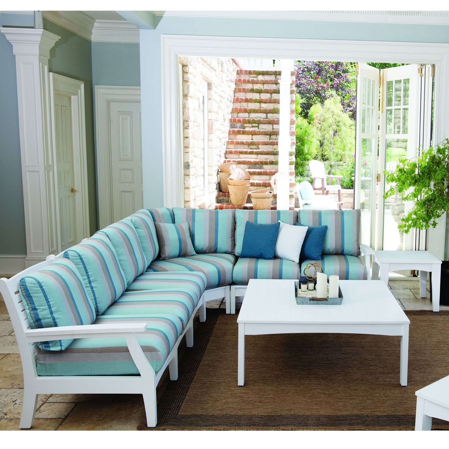 Berlin Gardens Classic Terrace Sectional Outdoor Living ... on Fine Living Patio Set id=16781