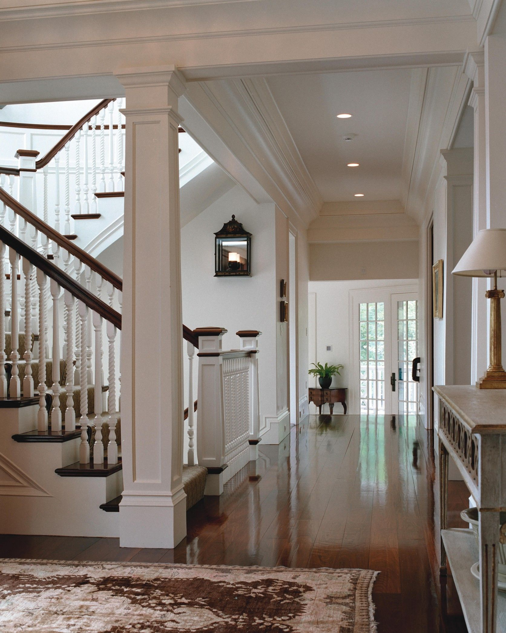 Best Entryway And Staircase Of Our Shingle Style Country House 400 x 300