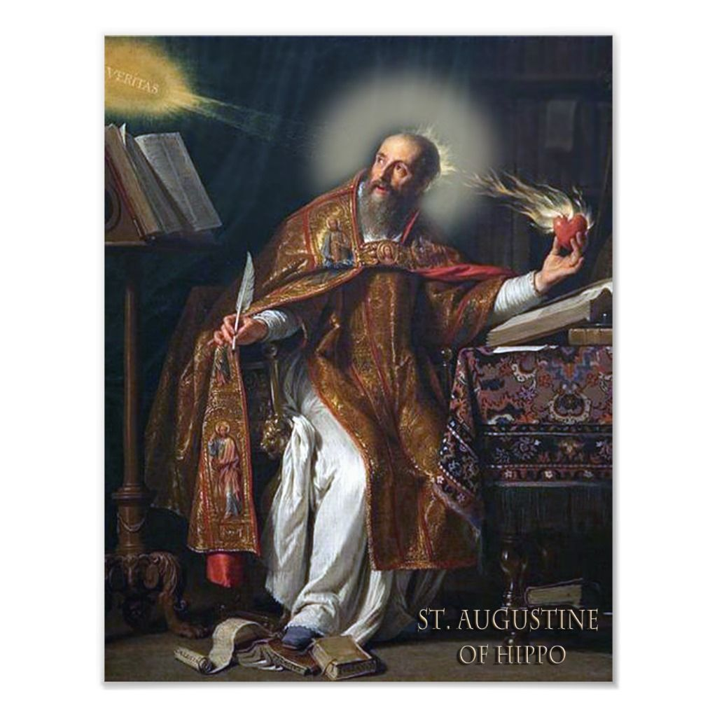 St Augustine Of Hippo Photo Print Zazzle Com In 2021 Augustine Of Hippo Catholic Saints St Augustine