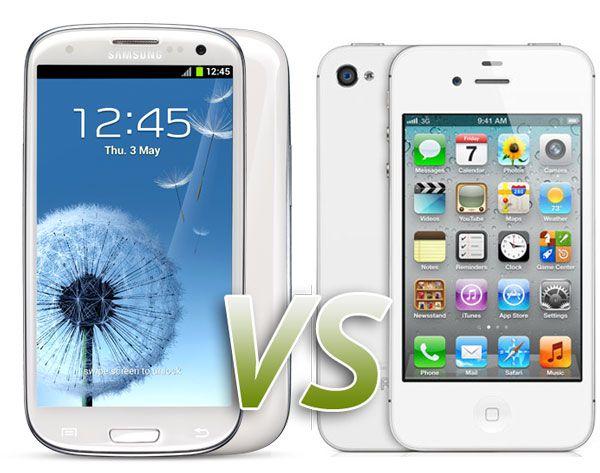 Samsung Galaxy S3 vs. Apple iPhone 4S, Comparison ...