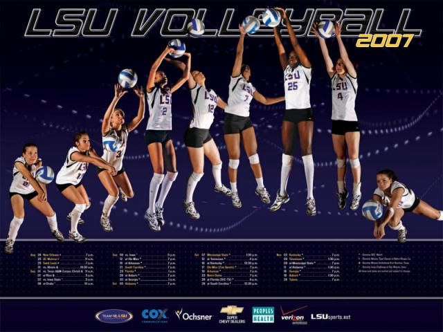 2007 Lsu Volleyball Poster Lsu Volleyball Posters Team Poster Ideas