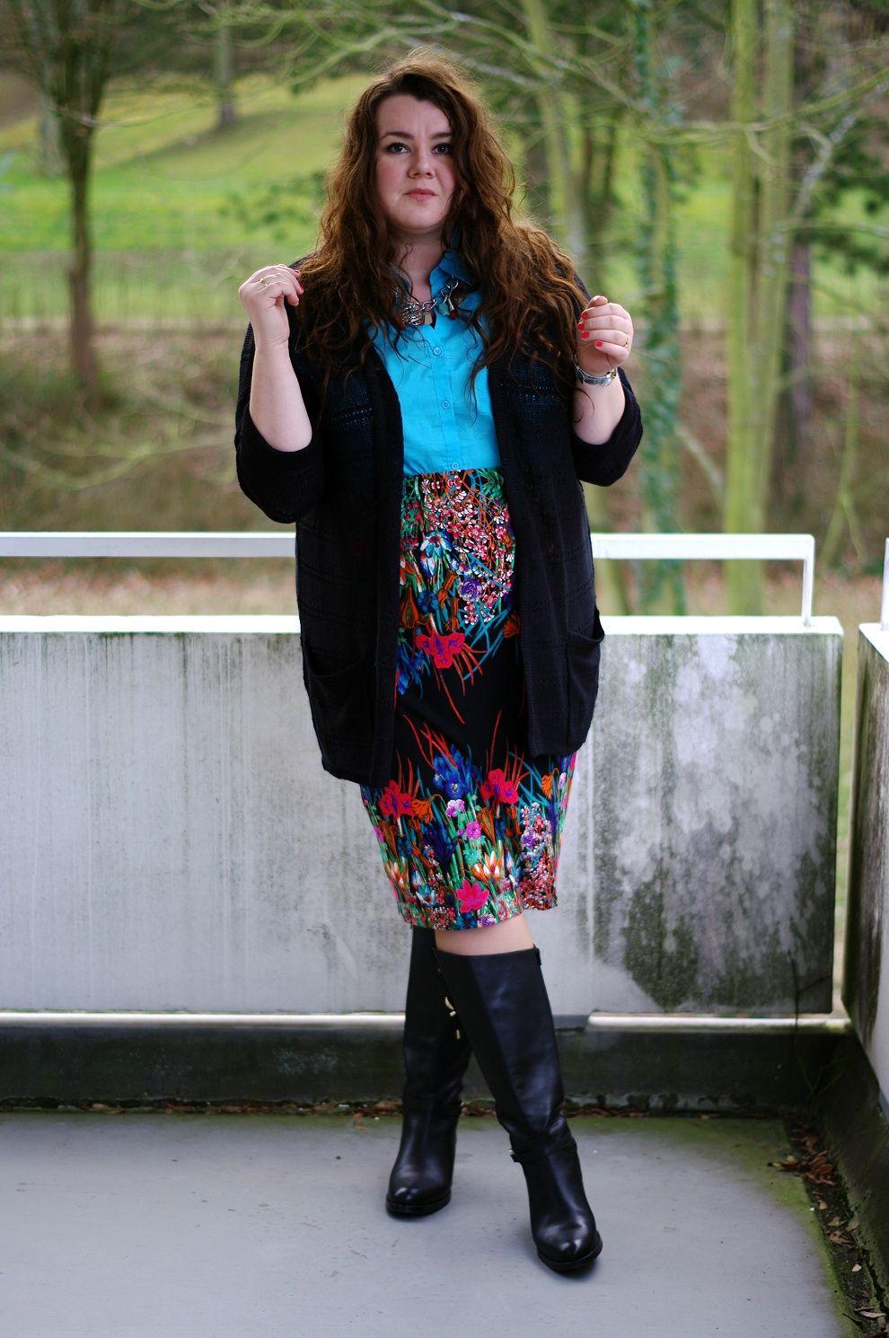 Theplussizeblog Com Plus Size Outfit Floral Pencil