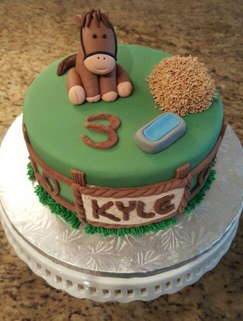 Baby Horse Themed Cake My Cakes Pinterest
