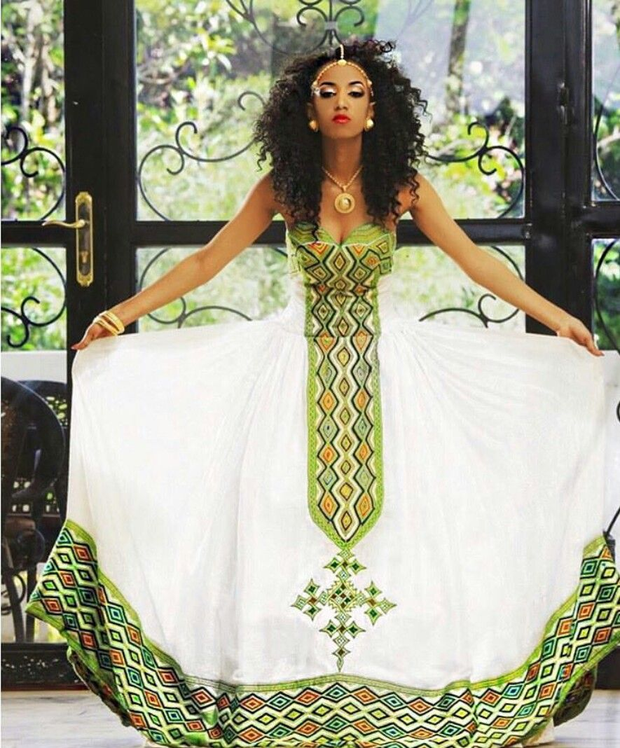 Pin by adiah heru on african people pinterest africans for Habesha dress for wedding