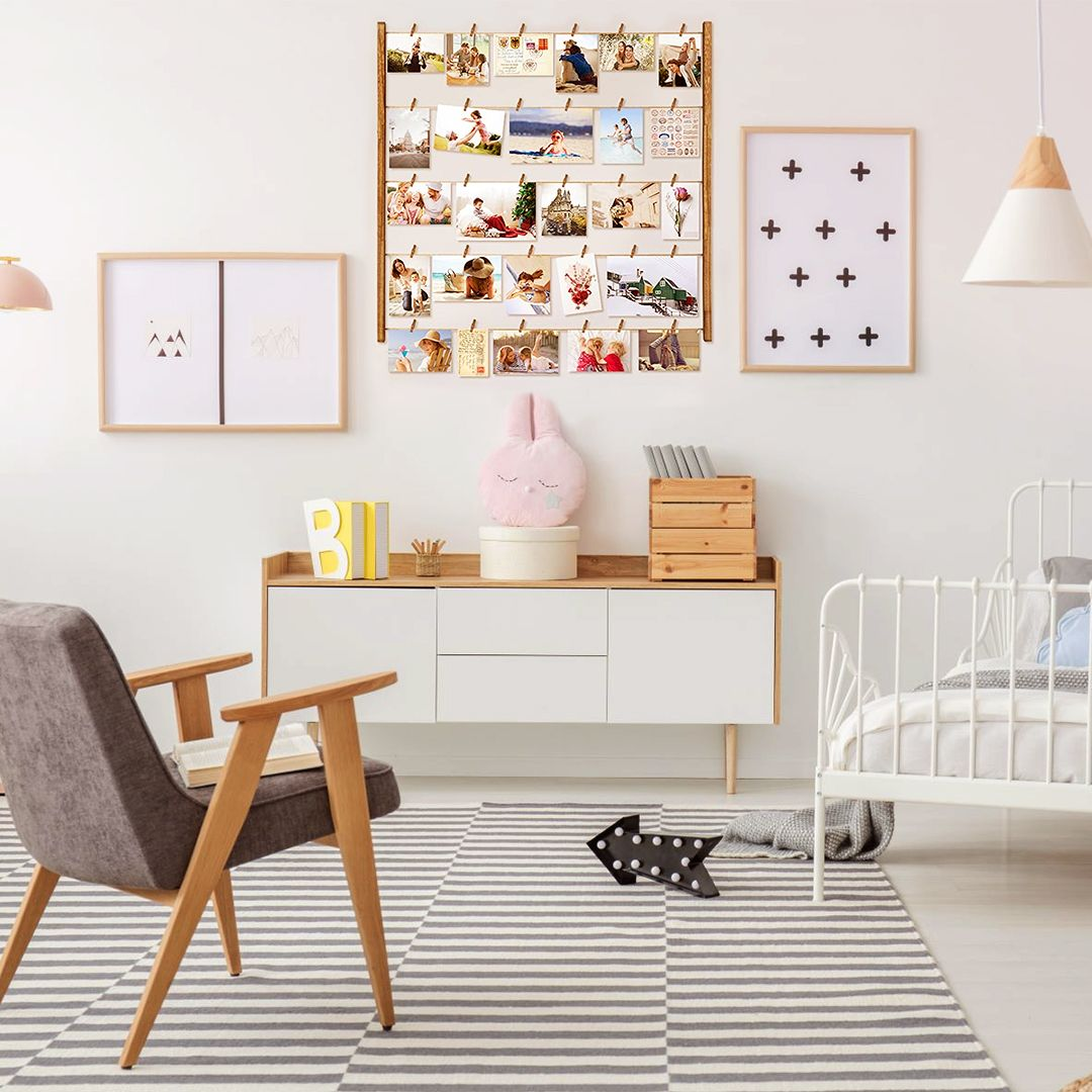 Best #lovable memories collection for your toddler room, it can boost their emotional strength.  #homedecor #homeinspiration #designblog #homeinspo #beautifulspaces #interiordesign #homeinspo #natural #naturaldesign #rustic #ecletic #walldecoration #wallhanging #decorideas #walldecor #decoration #amazonhome #clipphotoframe #clutterfree #organise #tidyingup #toodleroomdecor #roomdecor