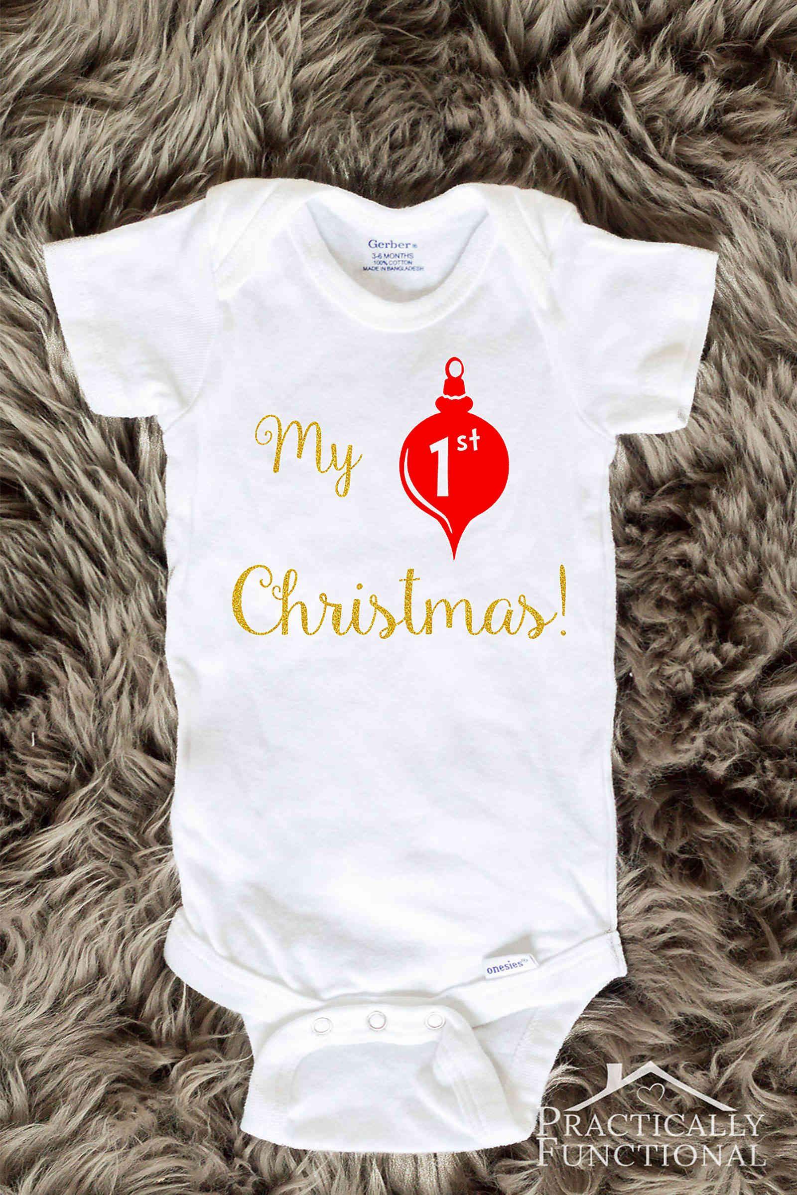 DIY My 1st Christmas Onesie | Christmas | Pinterest | Christmas ...
