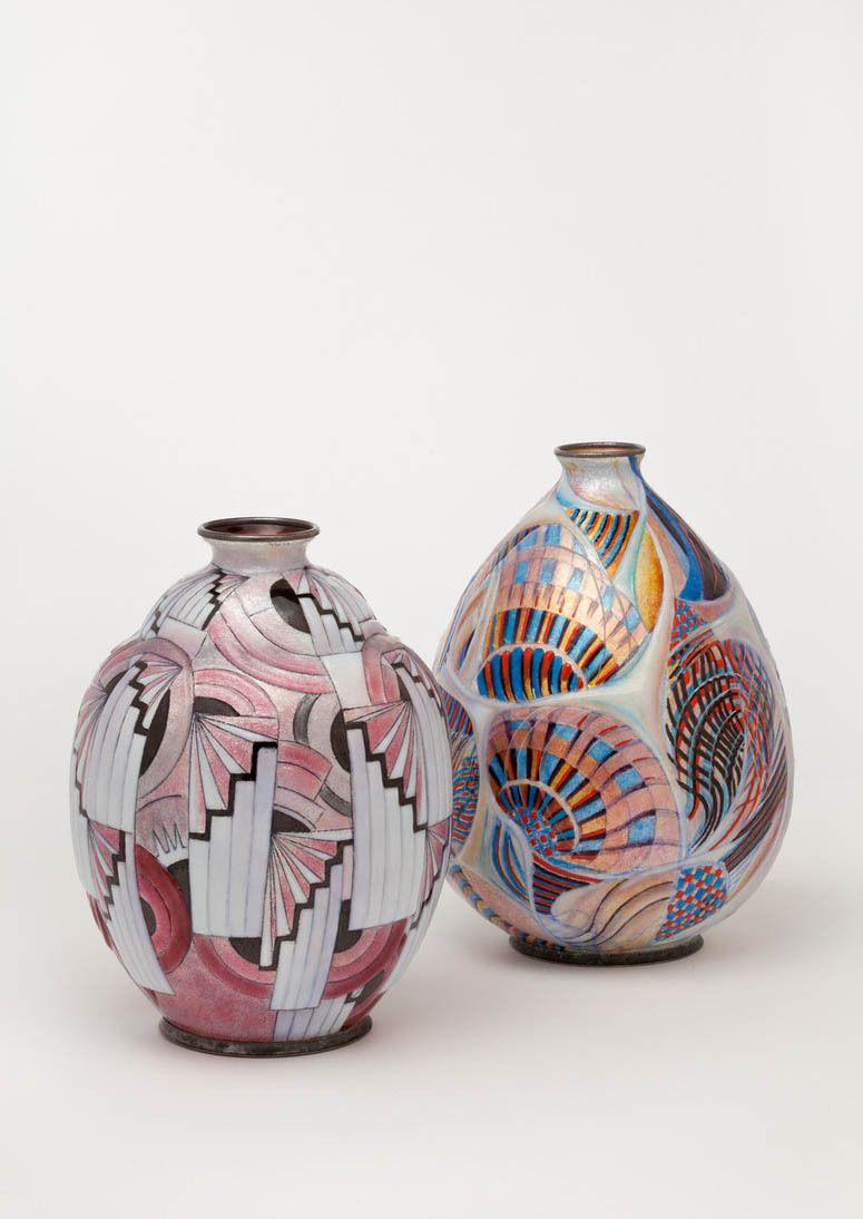 Camille Faure Vases 1925 1930 Limoges France Makk Museum Fur Angewandte Kunst Koln Rba Art Deco Fashion Art Decoration Art Deco