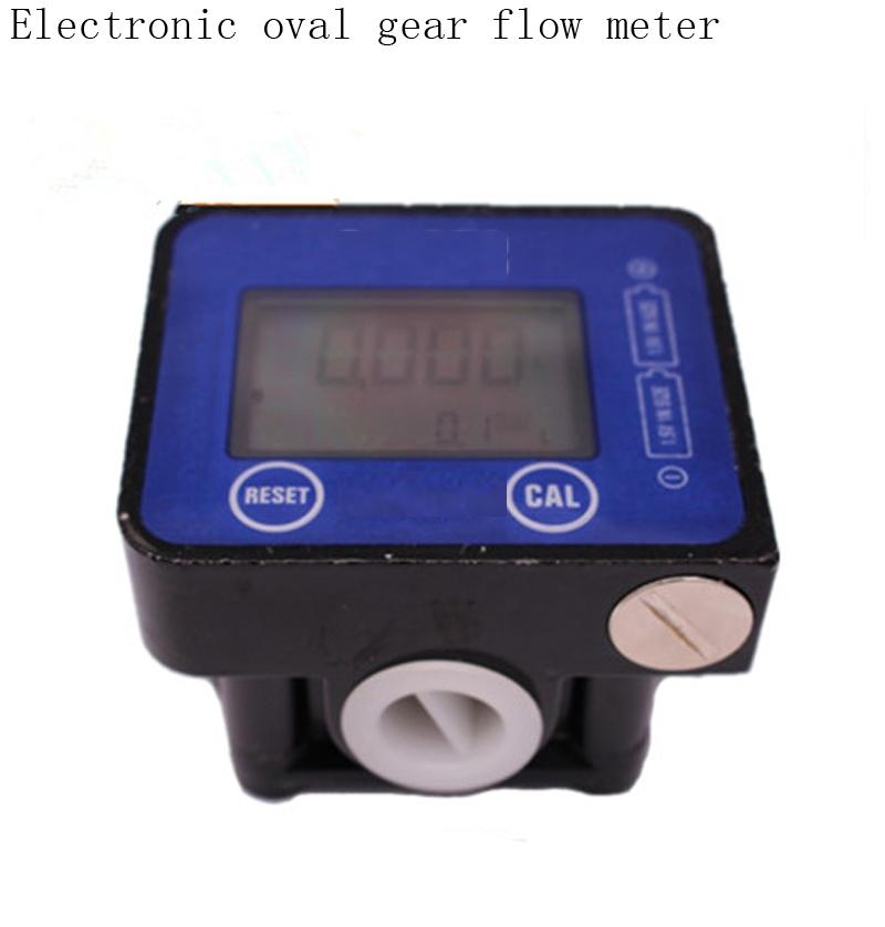 69.35$  Buy here - http://aliaa6.worldwells.pw/go.php?t=32687784308 - electronic elliptical gear flow meter digital display oval Turbine flowmeter Diesel / gasoline / kerosene / oil meter