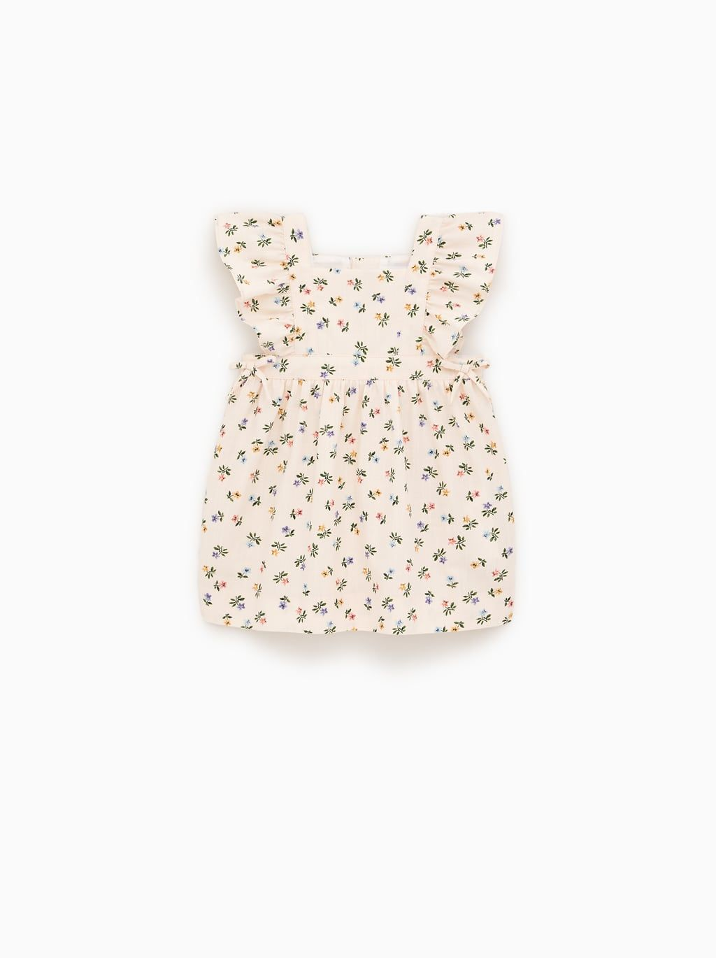 Image 1 Of Floral Dress With Bow Details From Zara Dress With Bow Baby Girl Clothes Baby Girl Dresses [ 1370 x 1024 Pixel ]