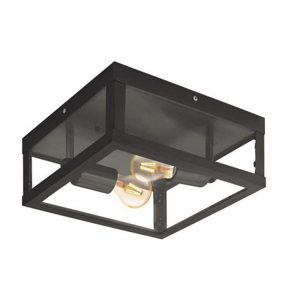 Alamonte 1 Outdoor Black Wall Ceiling Light 94832