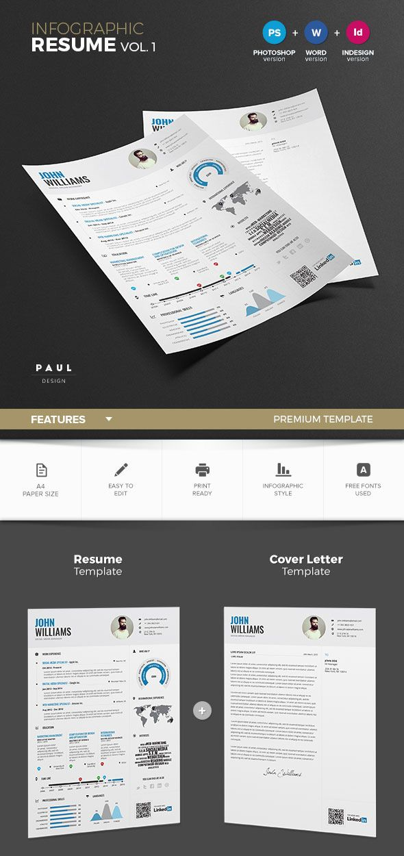 Infographic Resume Template Design