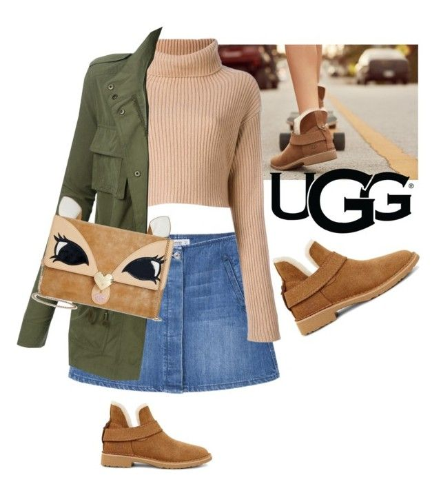 """""""The New Classics With UGG: Contest Entry"""" by jovana-p-com ❤ liked on Polyvore featuring UGG, MANGO, LE3NO, Betsey Johnson and ugg"""