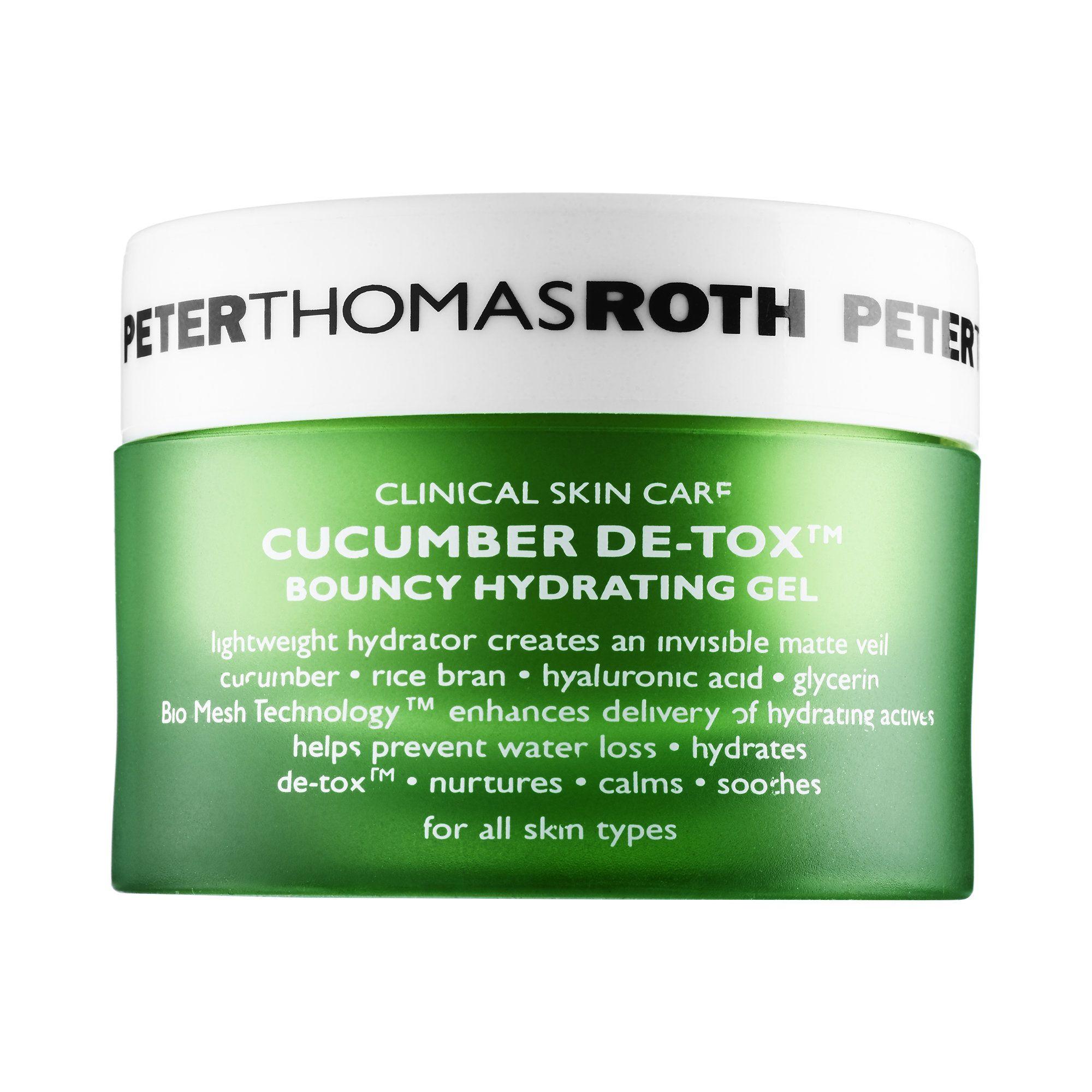 Cucumber De Tox Bouncy Hydrating Gel By Peter Thomas Roth A Lightweight Oil Free Moisturizer With A Unique Bounce B Hydrating Gel Skin Care Moisturizer Gel
