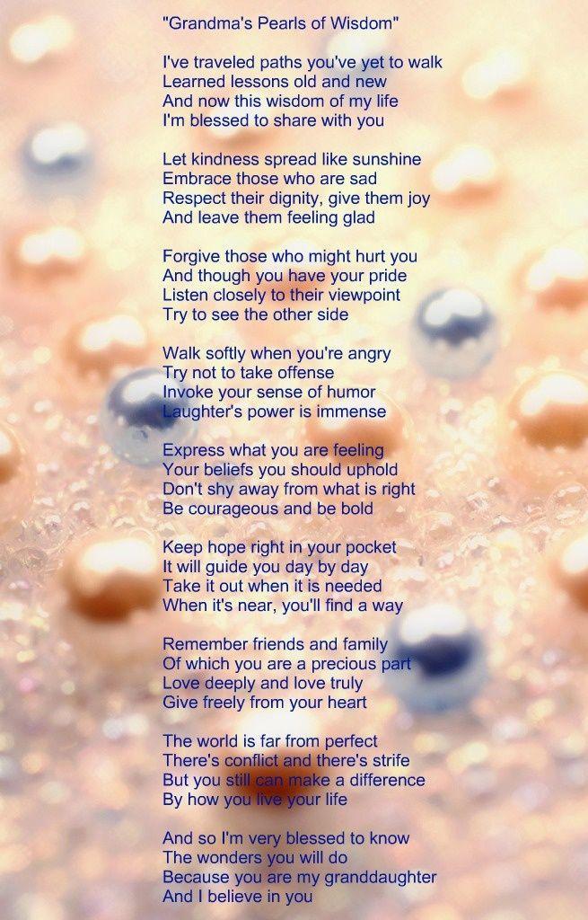 My Grandma Poems Poem My Grandmother Gave Me Reality Poems