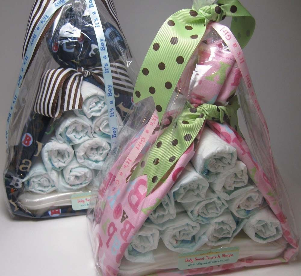 Stork Bundle(TM) & Washcloth Lollipop - Baby Blanket and Diapering ...