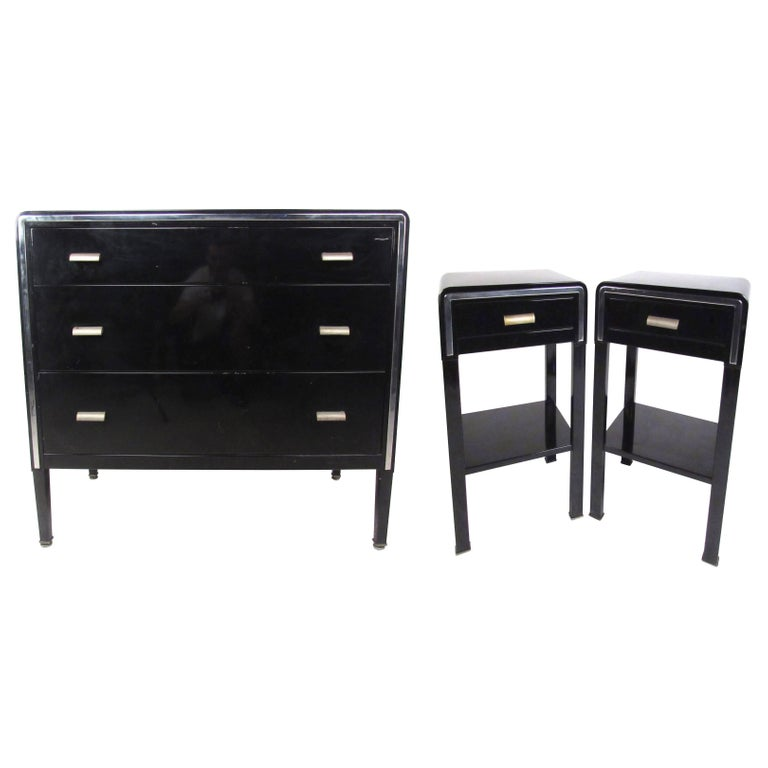 Norman Bel Geddes Metal Dresser And Nightstands For Simmons Simmons Furniture Dresser As Nightstand Modern Dresser