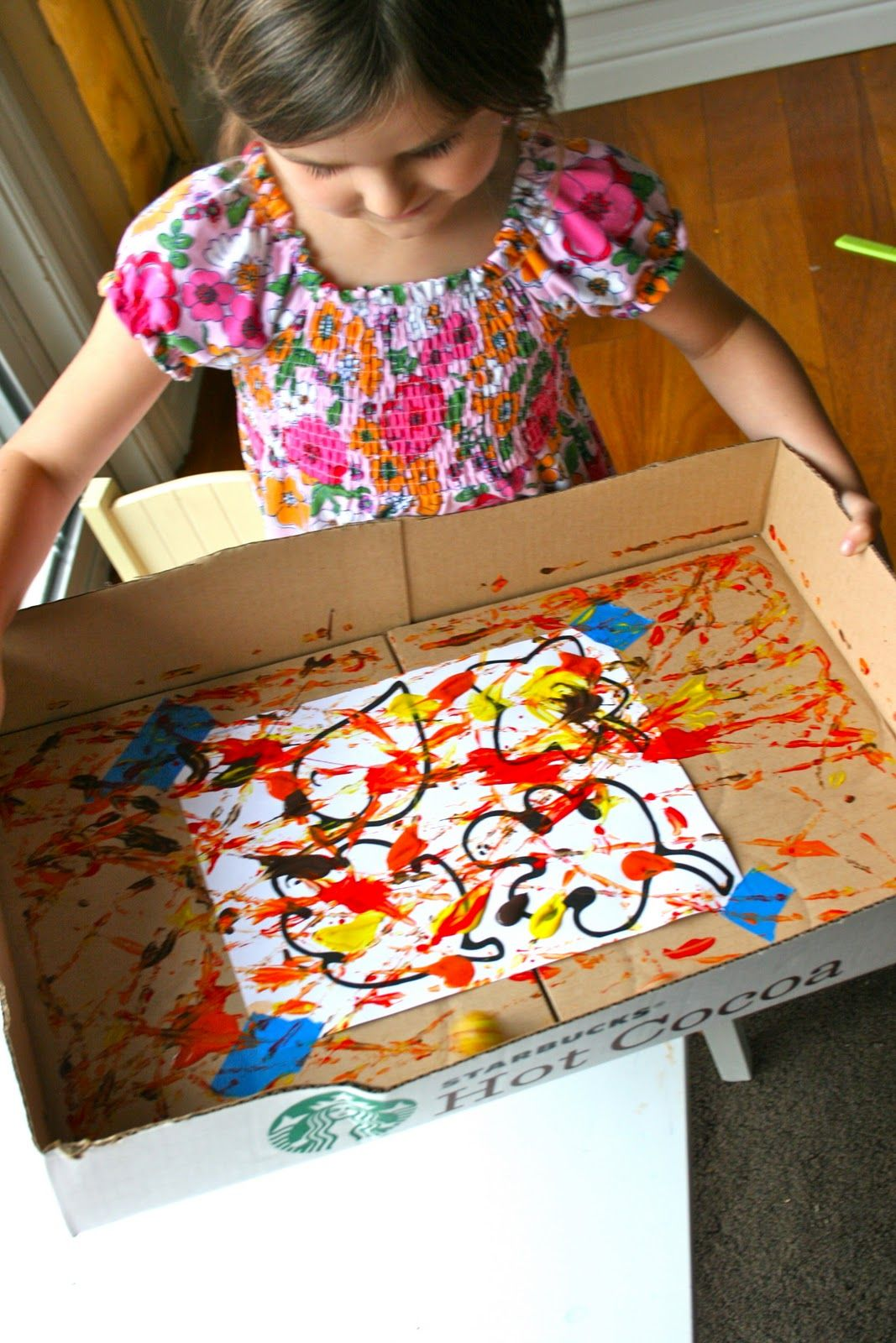 The Moffatt Girls Fall Marble Painting