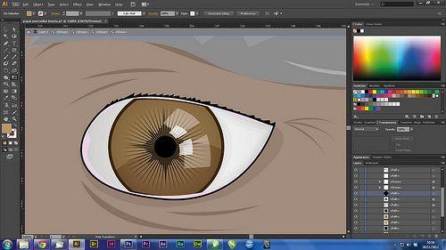 Fazendo olho no Illustrator
