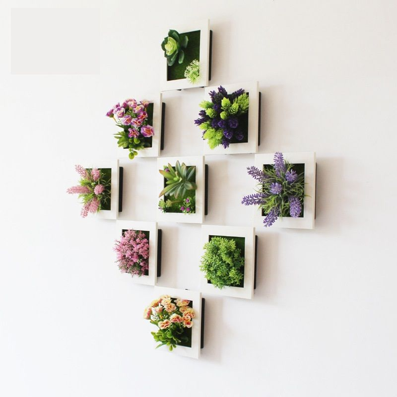 New High Simulation 3D Plants Country Style Wall Hanging Artificial