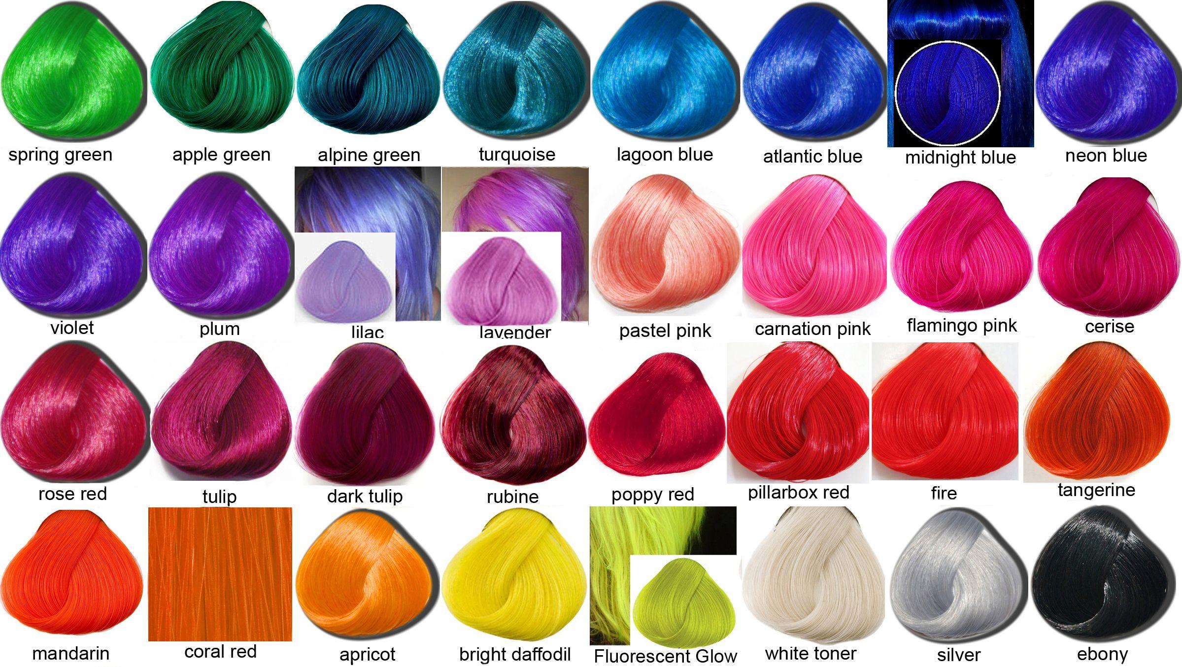 Temporary Pastel Hair Dye Crazy Colour Vs La Riche Directions