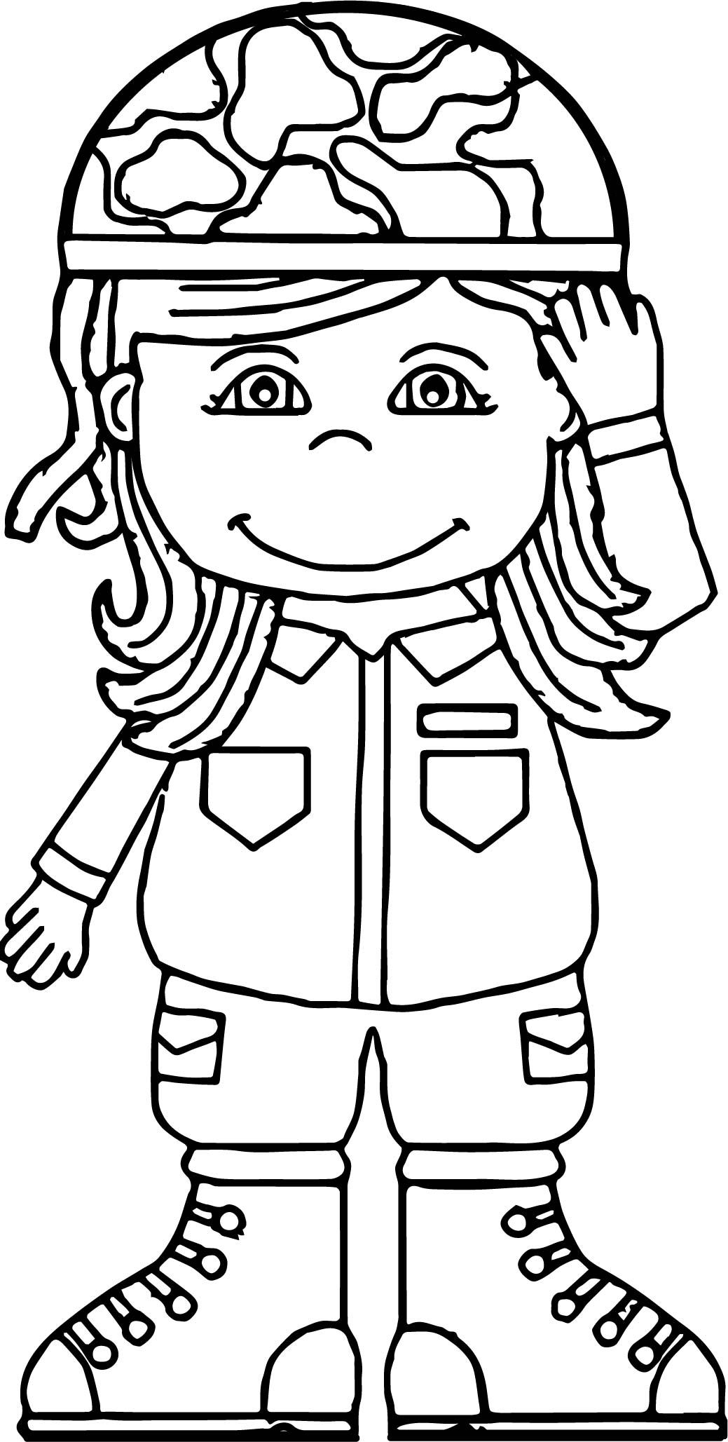 Cool Soldier Girl Coloring Page Sanat Etkinlikleri Sanat Okul